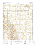 Beck Ranch Texas Current topographic map, 1:24000 scale, 7.5 X 7.5 Minute, Year 2016 from Texas Map Store