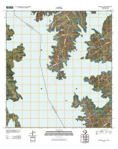Beckwith Arm Texas Historical topographic map, 1:24000 scale, 7.5 X 7.5 Minute, Year 2010