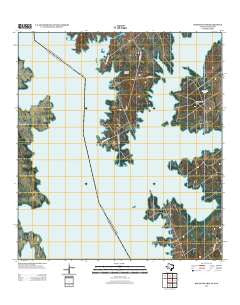 Beckwith Arm Texas Historical topographic map, 1:24000 scale, 7.5 X 7.5 Minute, Year 2012