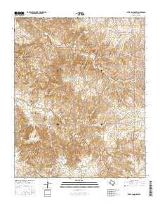 Berry Sand Draw Texas Current topographic map, 1:24000 scale, 7.5 X 7.5 Minute, Year 2016