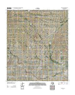 Big Hill Texas Historical topographic map, 1:24000 scale, 7.5 X 7.5 Minute, Year 2012