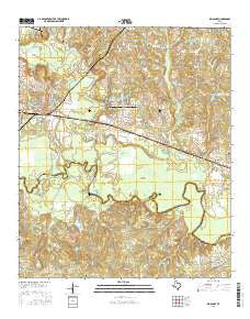 Big Sandy Texas Current topographic map, 1:24000 scale, 7.5 X 7.5 Minute, Year 2016