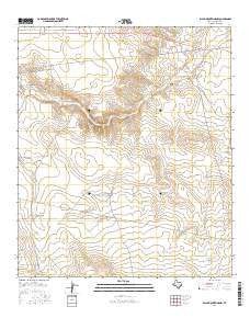 Black Mountains NW Texas Current topographic map, 1:24000 scale, 7.5 X 7.5 Minute, Year 2016