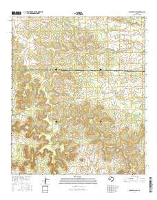Blackwell SW Texas Current topographic map, 1:24000 scale, 7.5 X 7.5 Minute, Year 2016