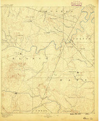 Blanco Texas Historical topographic map, 1:125000 scale, 30 X 30 Minute, Year 1887
