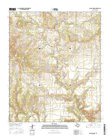 Boiling Spring Texas Current topographic map, 1:24000 scale, 7.5 X 7.5 Minute, Year 2016