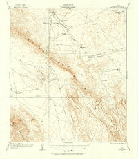 Bone Spring Texas Historical topographic map, 1:62500 scale, 15 X 15 Minute, Year 1917