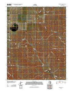 Booker SE Texas Historical topographic map, 1:24000 scale, 7.5 X 7.5 Minute, Year 2010