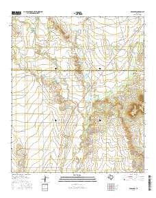 Bradshaw Texas Current topographic map, 1:24000 scale, 7.5 X 7.5 Minute, Year 2016