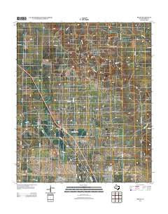 Brand Texas Historical topographic map, 1:24000 scale, 7.5 X 7.5 Minute, Year 2012