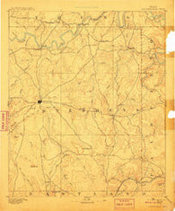 Breckenridge Texas Historical topographic map, 1:125000 scale, 30 X 30 Minute, Year 1890