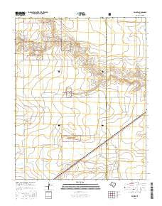 Brickel Texas Current topographic map, 1:24000 scale, 7.5 X 7.5 Minute, Year 2016