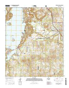 Bridgeport West Texas Current topographic map, 1:24000 scale, 7.5 X 7.5 Minute, Year 2016