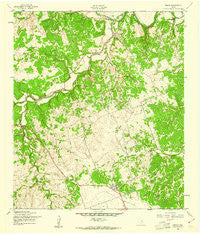 Briggs Texas Historical topographic map, 1:24000 scale, 7.5 X 7.5 Minute, Year 1958