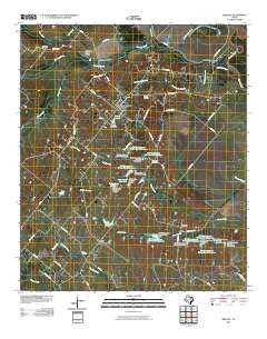 Bristol Texas Historical topographic map, 1:24000 scale, 7.5 X 7.5 Minute, Year 2010