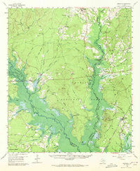 Broaddus Texas Historical topographic map, 1:62500 scale, 15 X 15 Minute, Year 1958