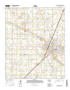 Brownfield West Texas Current topographic map, 1:24000 scale, 7.5 X 7.5 Minute, Year 2016