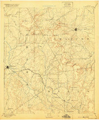 Brownwood Texas Historical topographic map, 1:125000 scale, 30 X 30 Minute, Year 1889