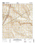Bruceville Texas Current topographic map, 1:24000 scale, 7.5 X 7.5 Minute, Year 2016 from Texas Map Store