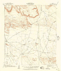 Buck Hill Texas Historical topographic map, 1:62500 scale, 15 X 15 Minute, Year 1917