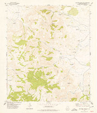 Buckhorn Mountain Texas Historical topographic map, 1:24000 scale, 7.5 X 7.5 Minute, Year 1978