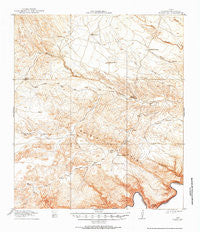 Bullis Gap Texas Historical topographic map, 1:62500 scale, 15 X 15 Minute, Year 1918