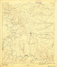 Burnet Texas Historical topographic map, 1:125000 scale, 30 X 30 Minute, Year 1887