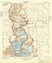 Burnett Bay Texas Historical topographic map, 1:31680 scale, 7.5 X 7.5 Minute, Year 1920