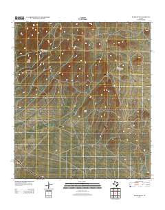 Burro Draw Texas Historical topographic map, 1:24000 scale, 7.5 X 7.5 Minute, Year 2012