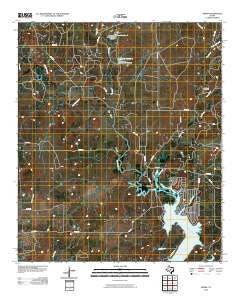 Byrds Texas Historical topographic map, 1:24000 scale, 7.5 X 7.5 Minute, Year 2010