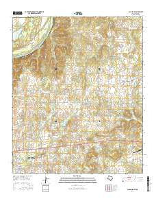 Callisburg Texas Current topographic map, 1:24000 scale, 7.5 X 7.5 Minute, Year 2016