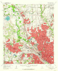 Carrollton Texas Historical topographic map, 1:62500 scale, 15 X 15 Minute, Year 1959