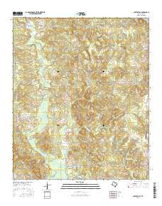 Carterville Texas Current topographic map, 1:24000 scale, 7.5 X 7.5 Minute, Year 2016