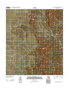 Cathedral Mountain Texas Historical topographic map, 1:24000 scale, 7.5 X 7.5 Minute, Year 2012