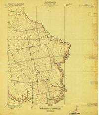 Cedar Bayou Texas Historical topographic map, 1:24000 scale, 7.5 X 7.5 Minute, Year 1916