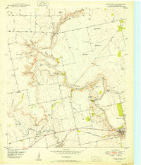 Cedar Bend Texas Historical topographic map, 1:24000 scale, 7.5 X 7.5 Minute, Year 1950