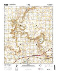 Cedar Bend Texas Current topographic map, 1:24000 scale, 7.5 X 7.5 Minute, Year 2016