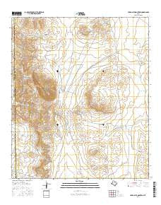 Cerro Alto Mountain Texas Current topographic map, 1:24000 scale, 7.5 X 7.5 Minute, Year 2016