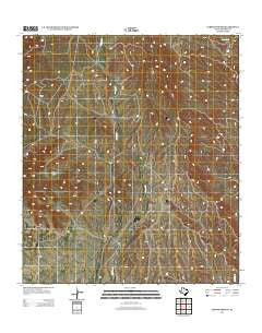 Cerros Prietos Texas Historical topographic map, 1:24000 scale, 7.5 X 7.5 Minute, Year 2012