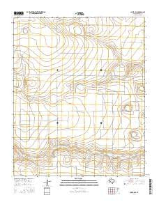 Chalk Hill Texas Current topographic map, 1:24000 scale, 7.5 X 7.5 Minute, Year 2016