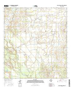 Charco Marrano Creek Texas Current topographic map, 1:24000 scale, 7.5 X 7.5 Minute, Year 2016