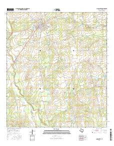 Charlotte Texas Current topographic map, 1:24000 scale, 7.5 X 7.5 Minute, Year 2016