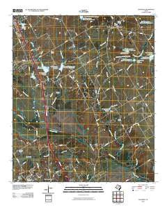 Chatfield Texas Historical topographic map, 1:24000 scale, 7.5 X 7.5 Minute, Year 2010