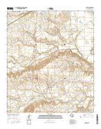 Chilton Texas Current topographic map, 1:24000 scale, 7.5 X 7.5 Minute, Year 2016 from Texas Map Store