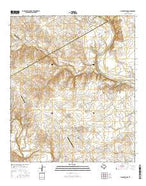 China Springs Texas Current topographic map, 1:24000 scale, 7.5 X 7.5 Minute, Year 2016 from Texas Map Store