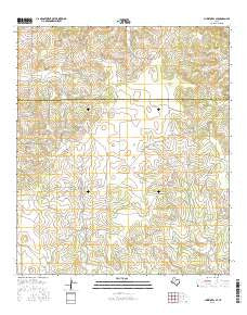 Christoval SE Texas Current topographic map, 1:24000 scale, 7.5 X 7.5 Minute, Year 2016