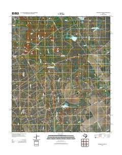 Church Peak Texas Historical topographic map, 1:24000 scale, 7.5 X 7.5 Minute, Year 2012
