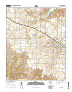 Clarendon Texas Current topographic map, 1:24000 scale, 7.5 X 7.5 Minute, Year 2016 from Texas Map Store