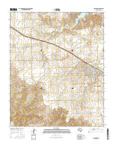 Clarendon Texas Current topographic map, 1:24000 scale, 7.5 X 7.5 Minute, Year 2016
