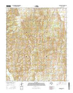 Clarendon SW Texas Current topographic map, 1:24000 scale, 7.5 X 7.5 Minute, Year 2016 from Texas Map Store